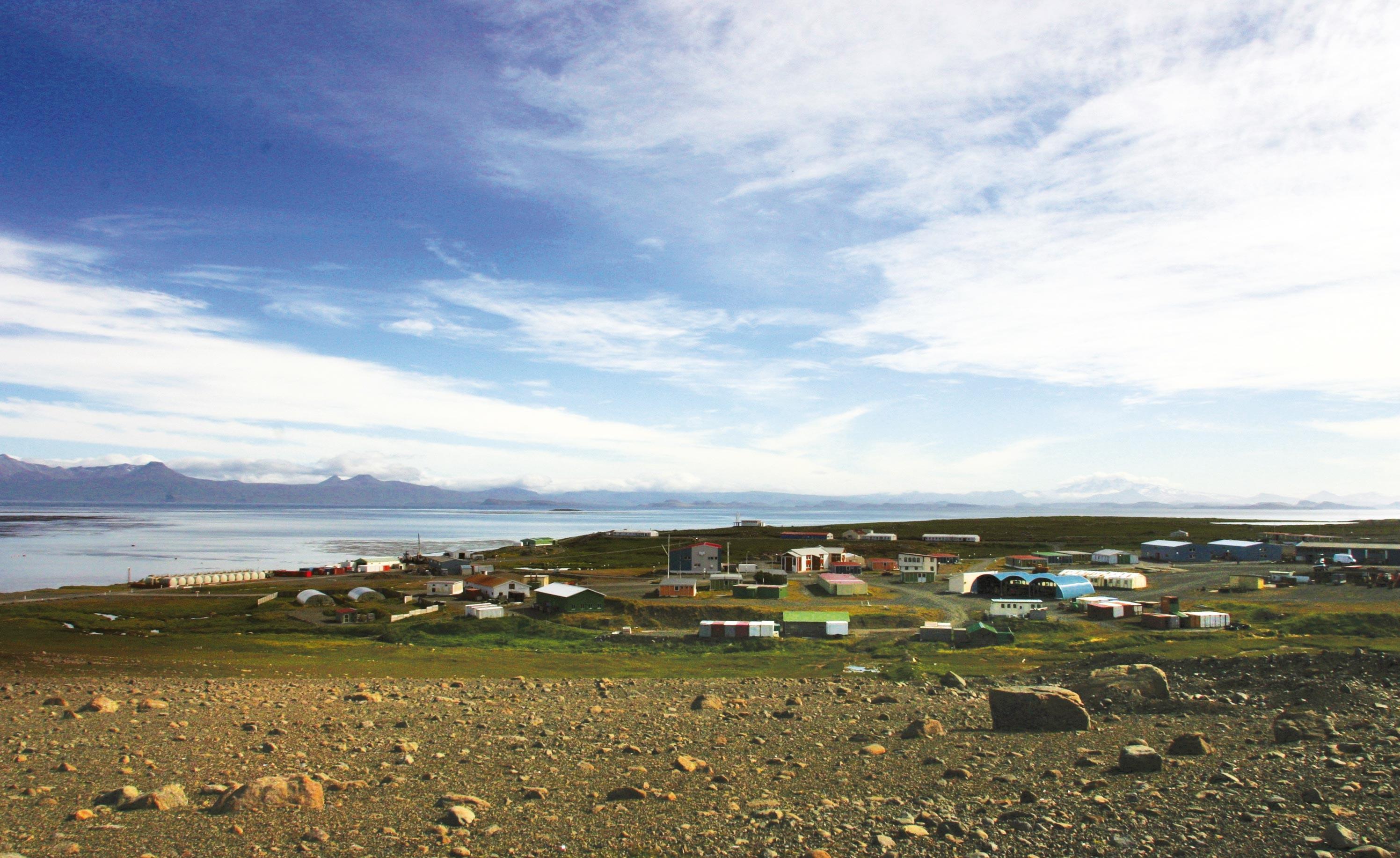 <stamp theme='his-green2'>Doc. 1</stamp> Port-aux-Français sur les iles Kerguelen (Terres australes et antarctiques françaises)