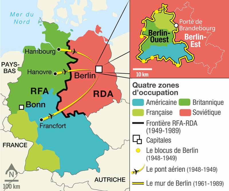<stamp theme='his-green2'>Doc. 1</stamp> L'Allemagne de 1945 à 1990