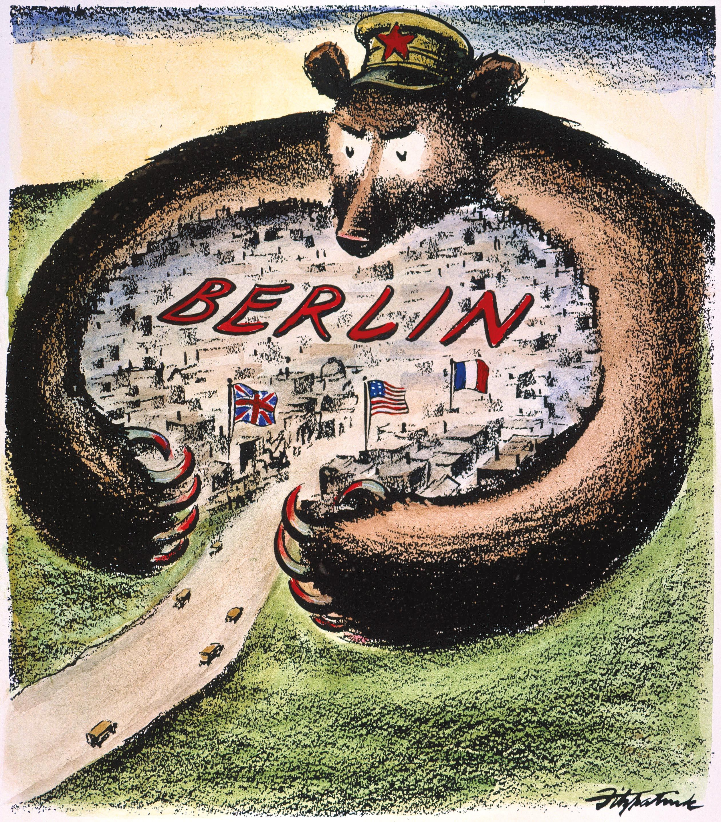 <stamp theme='his-green2'>Doc. 2</stamp> Le blocus de Berlin