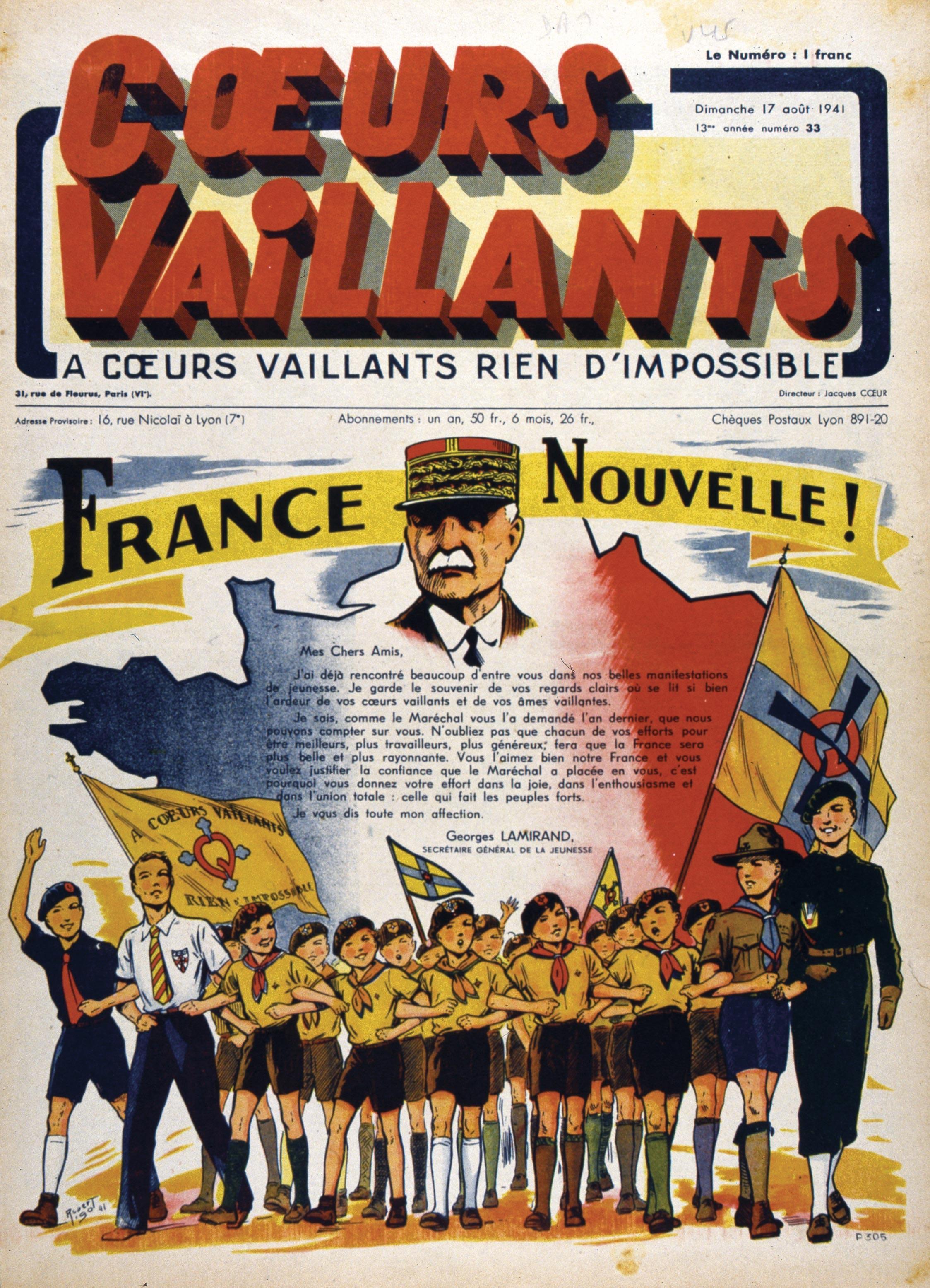 <stamp theme='his-green2'>Doc. 3</stamp> La propagande du régime de Vichy