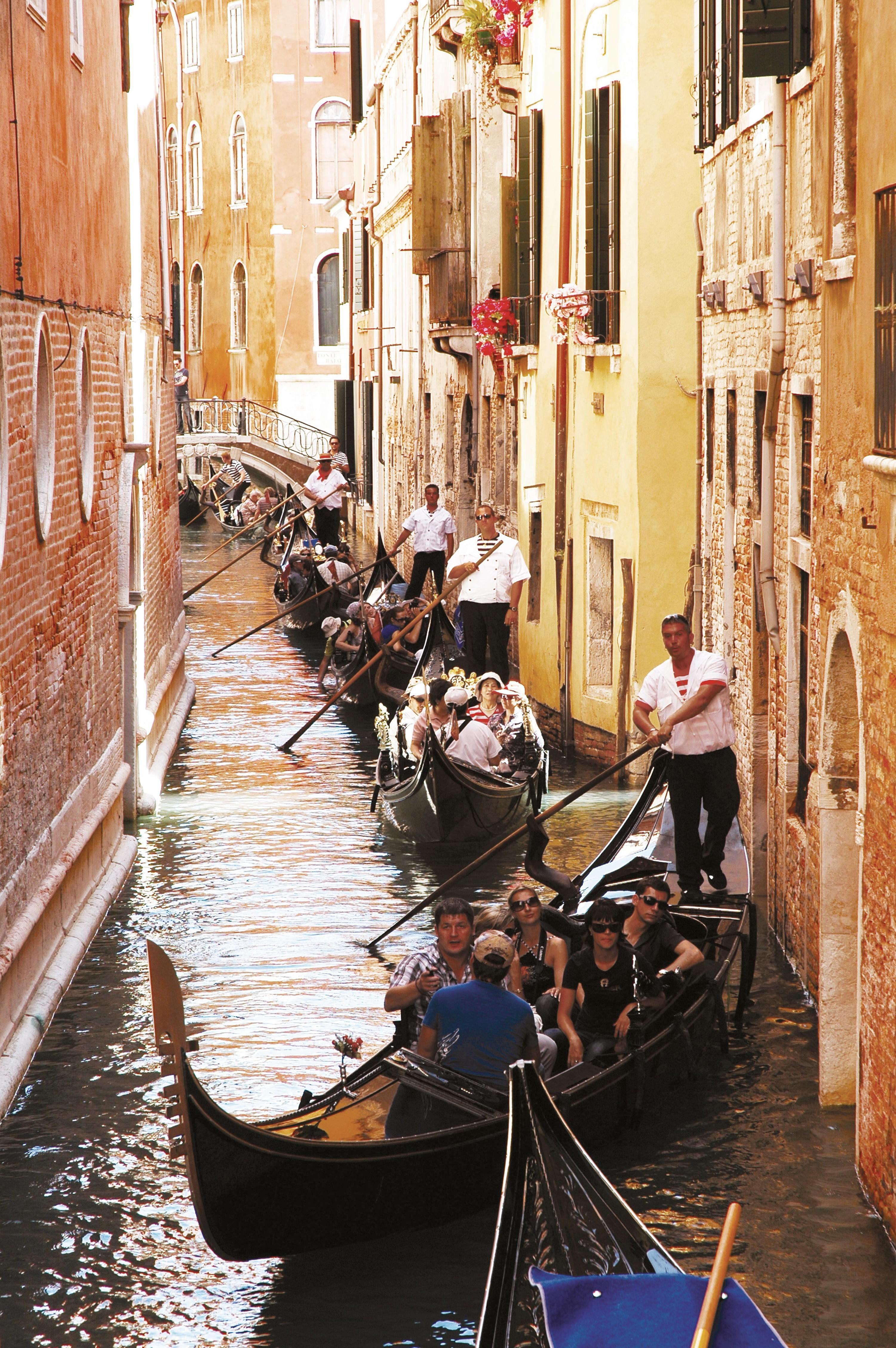 Touristes japonais à Venise