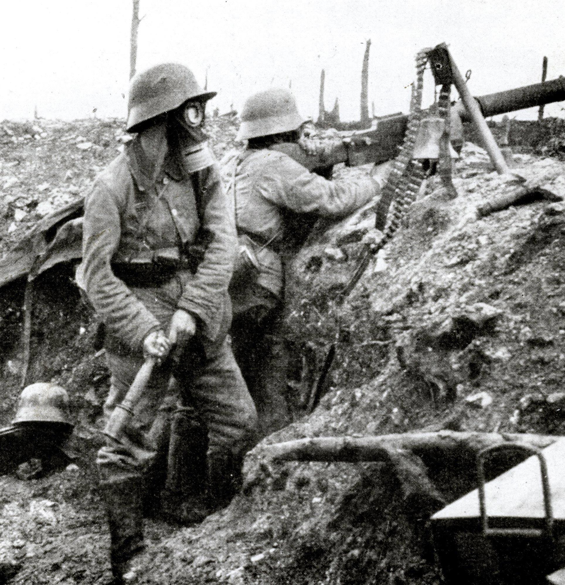 <stamp theme='his-green2'>Doc. 1</stamp> Une tranchée de la Grande Guerre