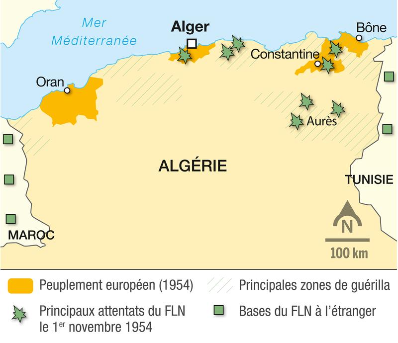 <stamp theme='his-green2'>Doc. 2</stamp> Le début de la guerre d'Algérie