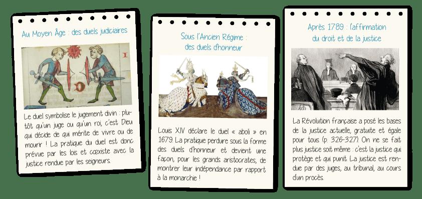 Au Moyen Âge : des duels judiciaires