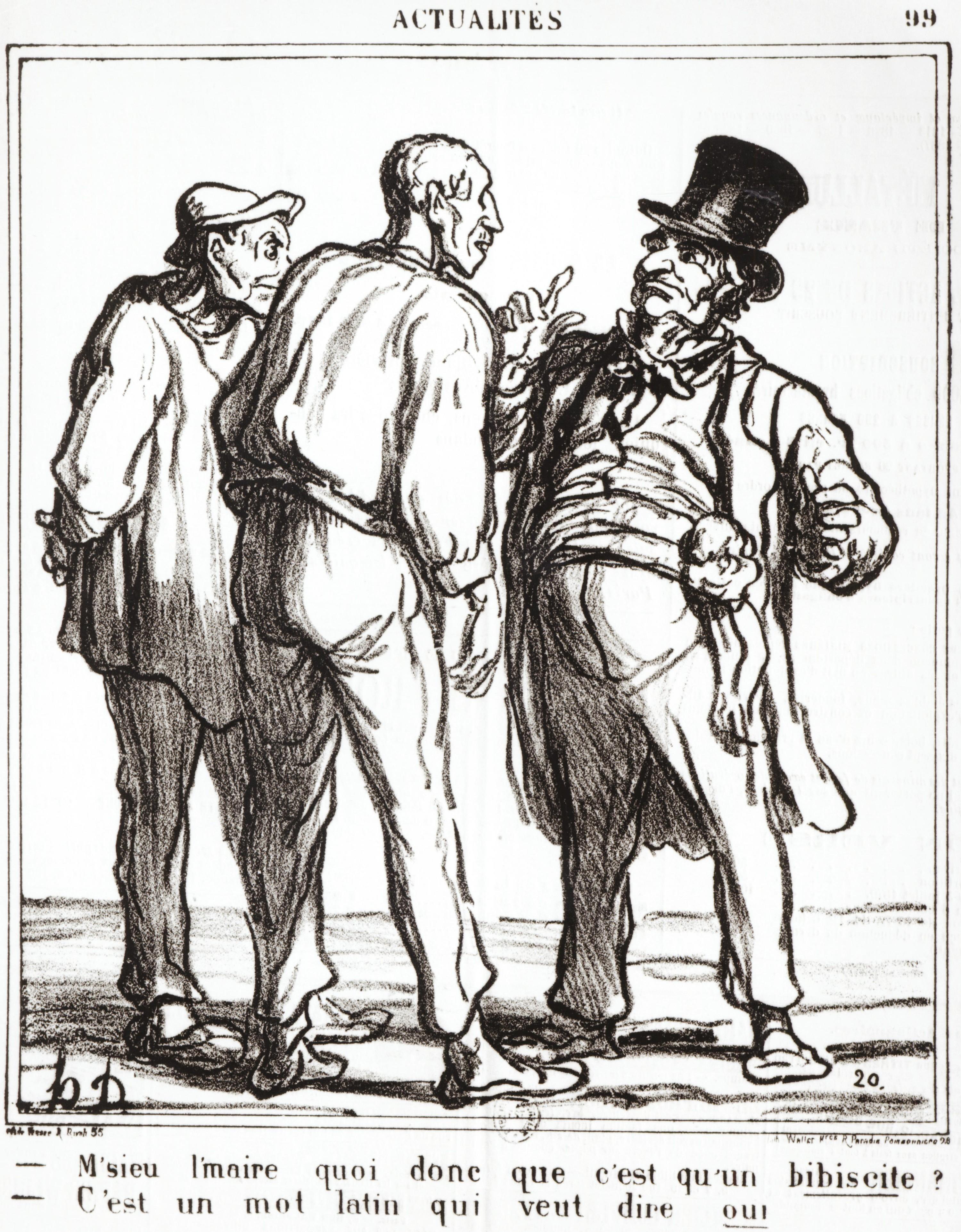 <stamp theme='his-green2'>Doc. 4</stamp> Caricature d'un plébiscite