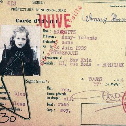 <stamp theme='his-green2'>Doc. 1</stamp> Carte d'identité sous l'Occupation