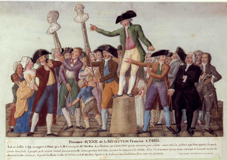 <stamp theme='his-green2'>Doc. 3</stamp> Première scène de la Révolution française