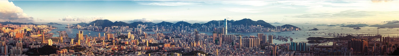 Panorama de la baie de Hong Kong
