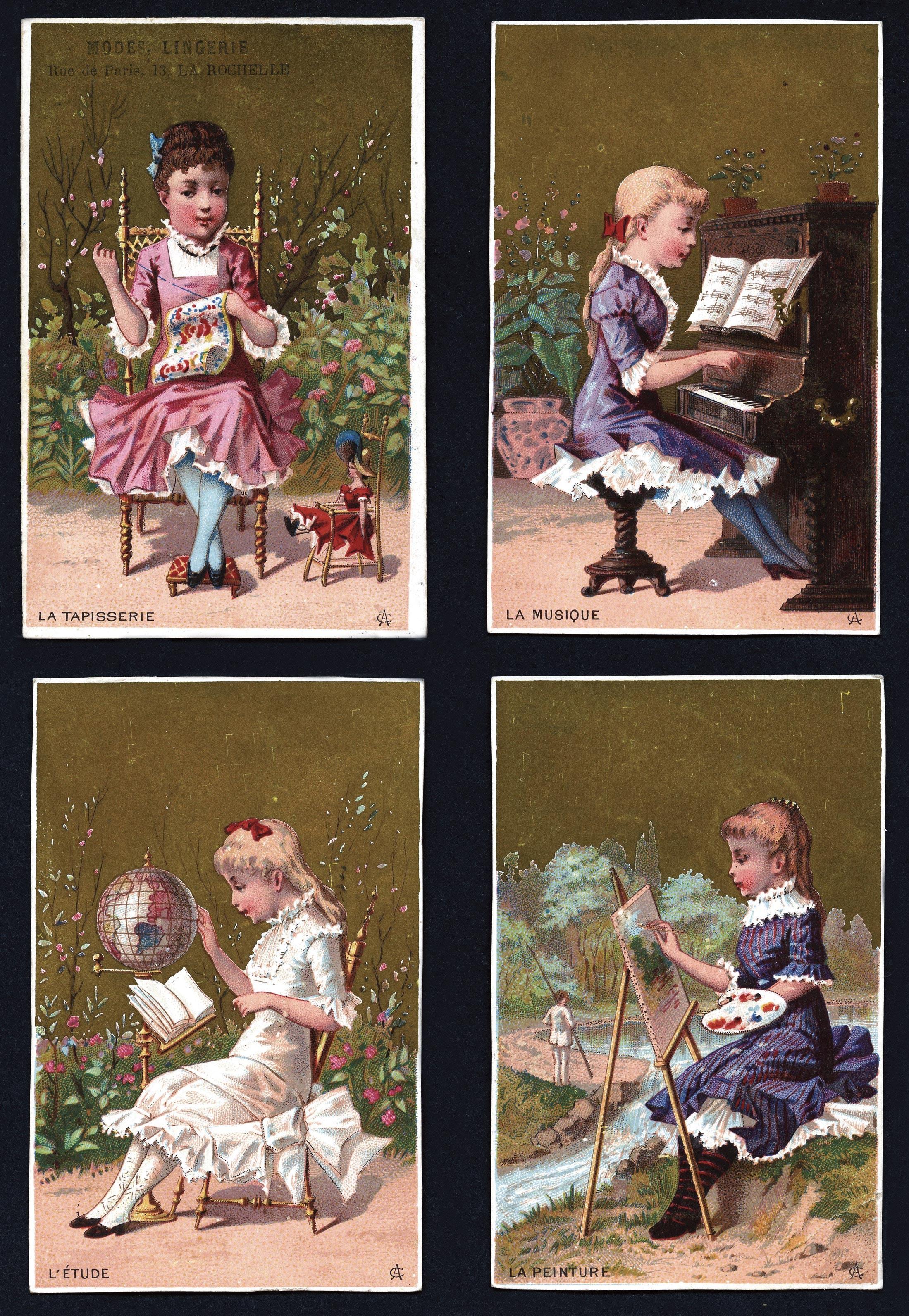 <stamp theme='his-green2'>Doc. 4</stamp> La « parfaite éducation » des jeunes filles bourgeoises
