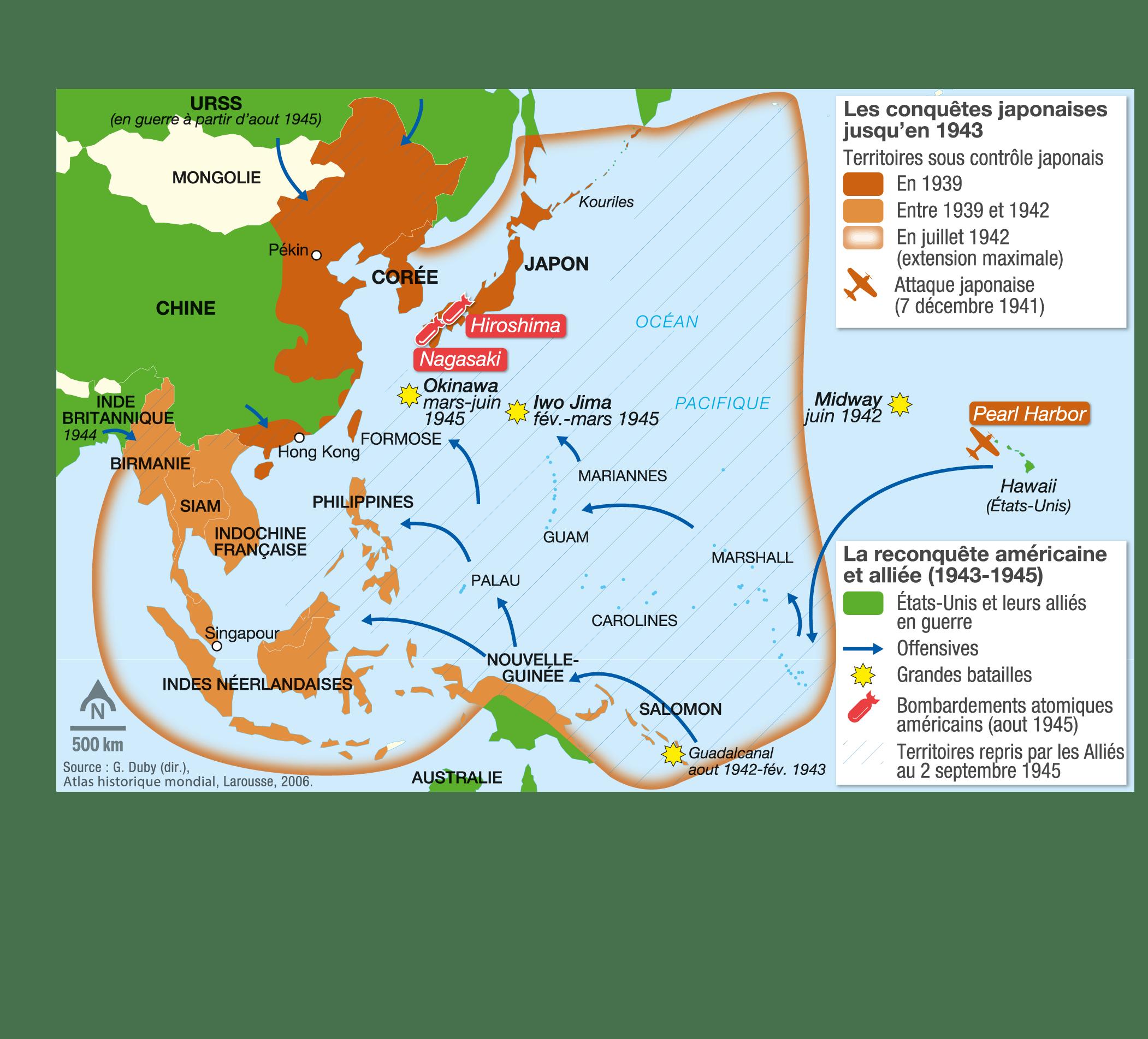 <stamp theme='his-green2'>Doc. 3</stamp> La guerre en Asie-Pacifique (1941-1945)