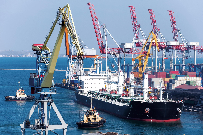Porte-conteneur en Asie