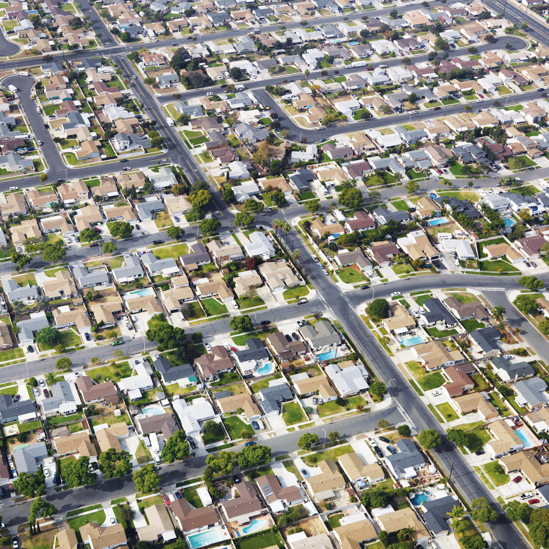 Une banlieue pavillonnaire à Los Angeles.