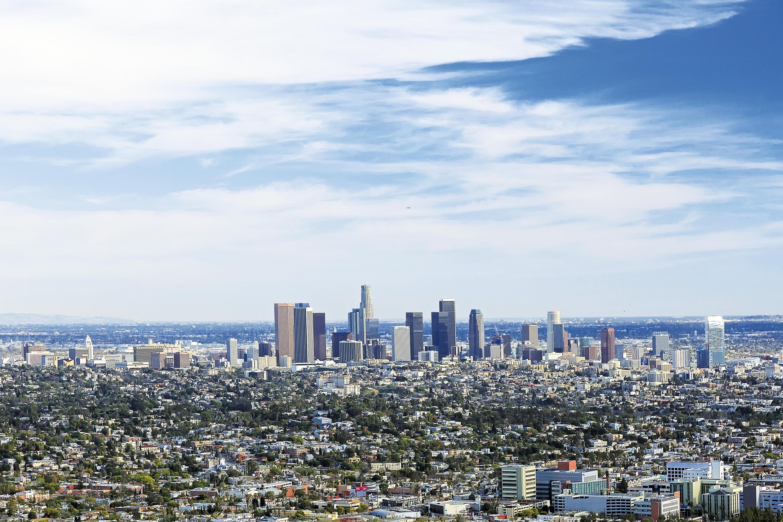L'étalement urbain à Los Angeles.