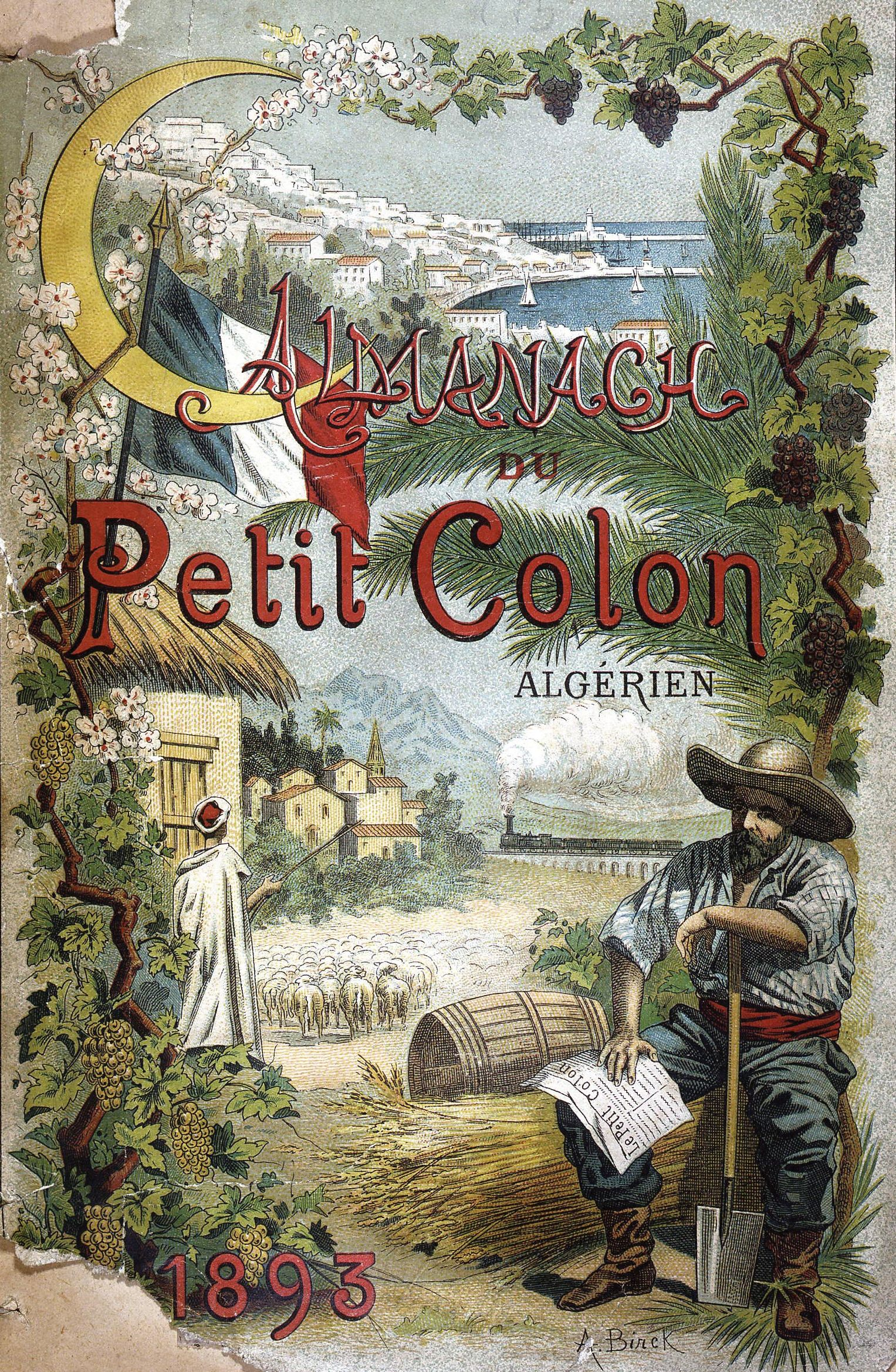 <stamp theme='his-green2'>Doc. 2</stamp> Almanach du petit colon algérien
