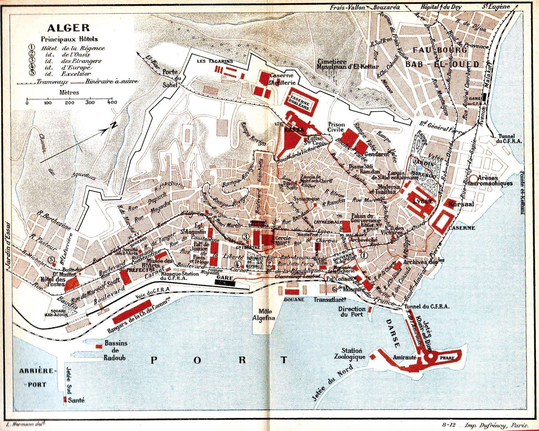 <stamp theme='his-green2'>Doc. 1</stamp> Plan de la ville d'Alger en 1911