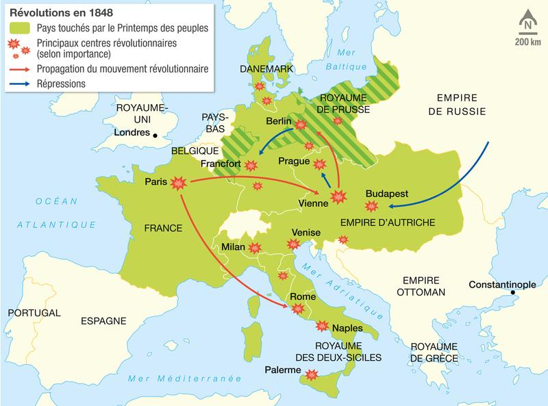 Les révolutions en Europe en 1848