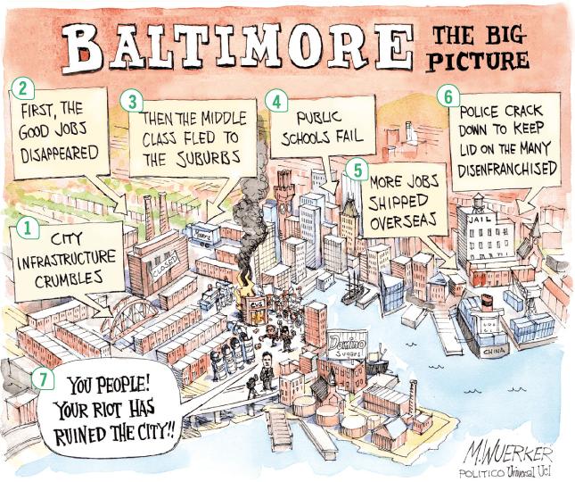 <stamp theme='his-green2'>Doc. 3</stamp> Baltimore (États-Unis), une ville en crise