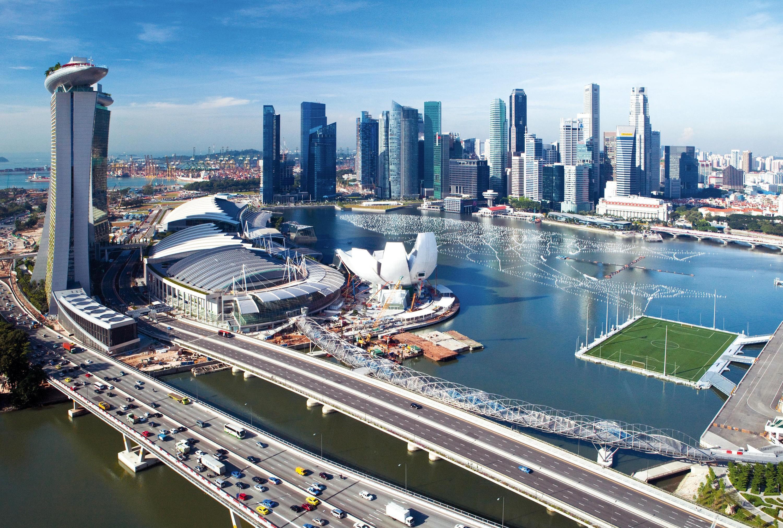 <stamp theme='his-green2'>Doc. 7</stamp> Un centre d'affaires et de loisirs sur des iles artificielles à Singapour