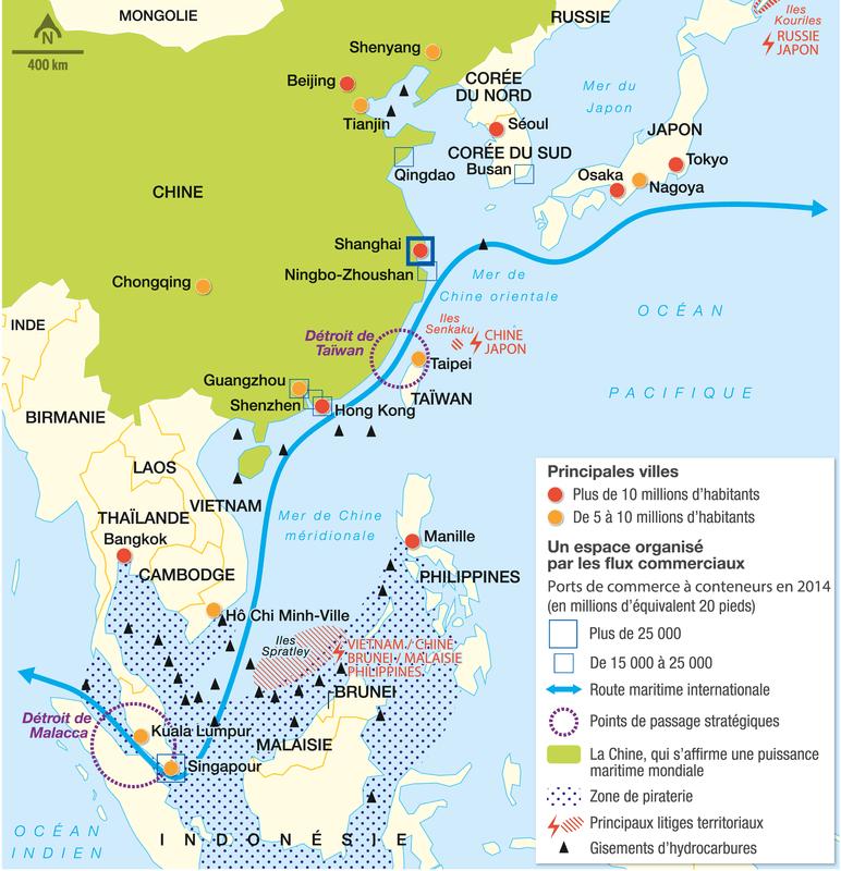 Les littoraux et la mer en Asie orientale: des espaces exploités et disputés