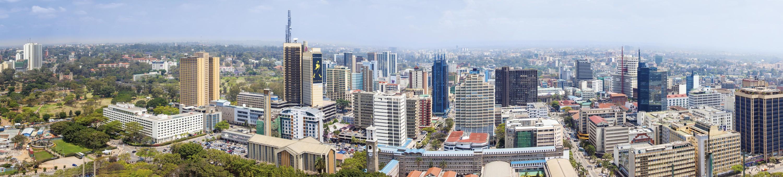 <stamp theme='his-green2'>Doc. 1</stamp> Le quartier des affaires (CBD) de Nairobi, un paysage dense et vertical