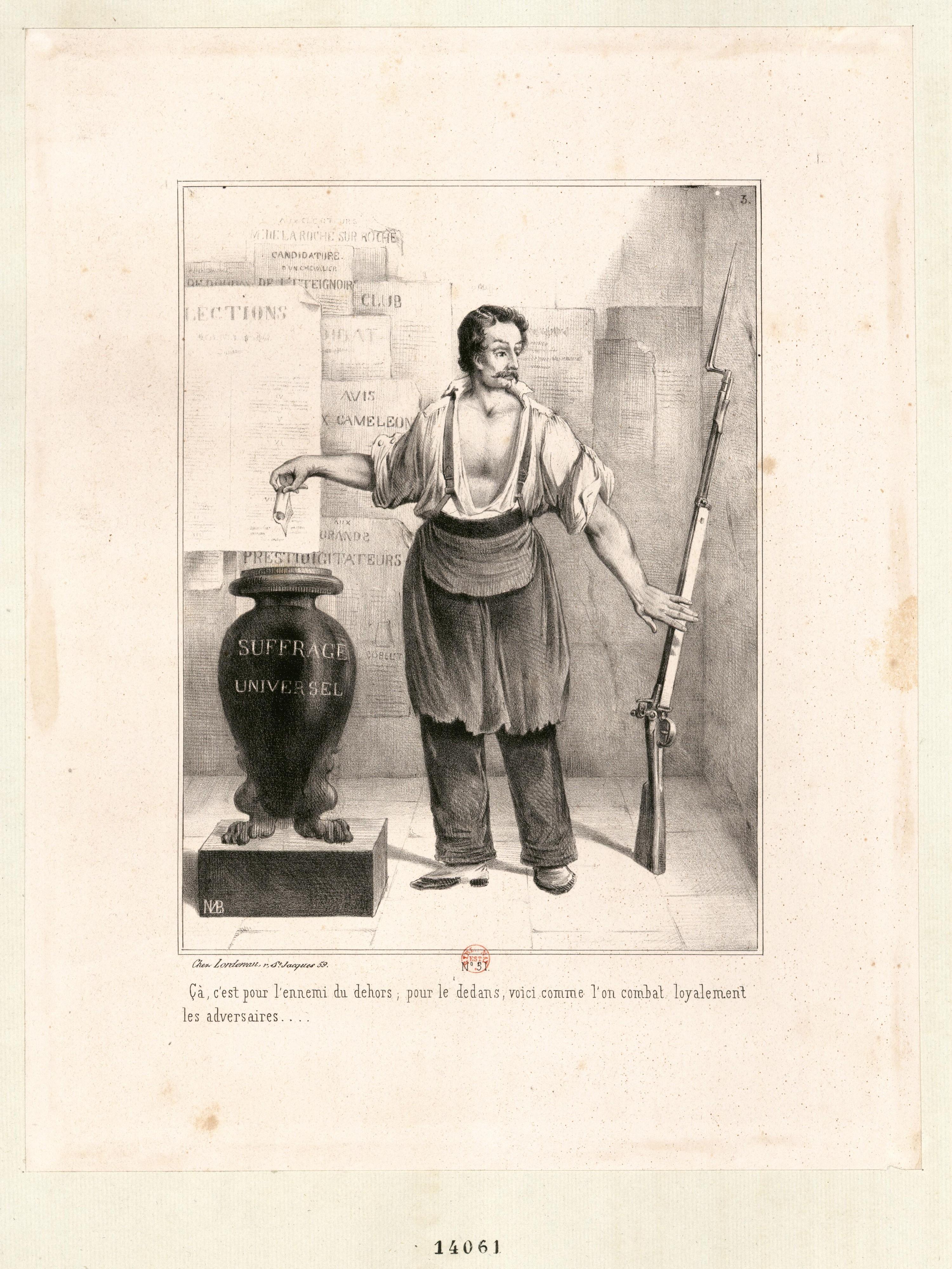Louis Marie Bosredon, Le Vote ou le fusil, 1848