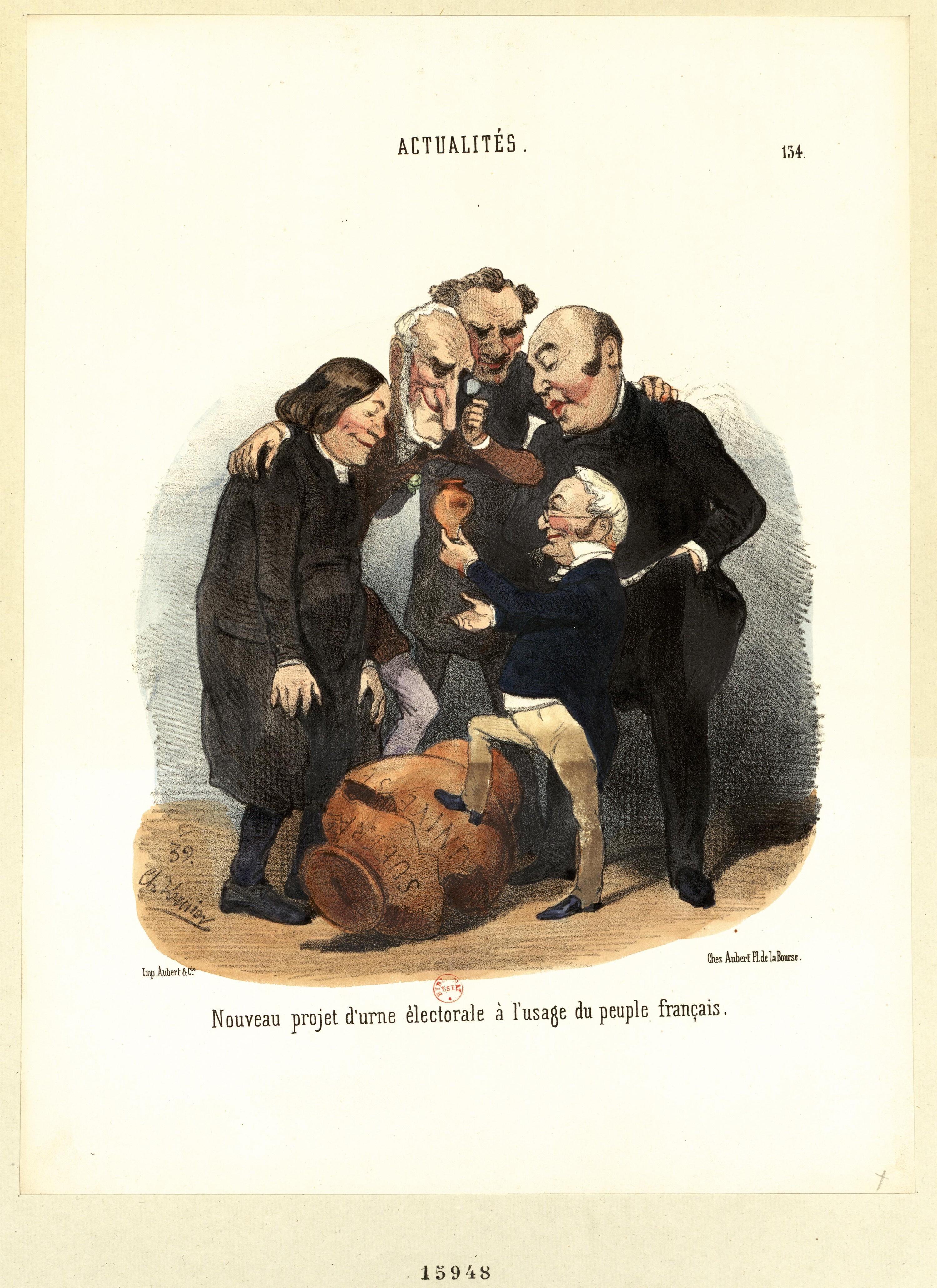 <stamp theme='his-green2'>Doc. 2</stamp> Caricature contre la loi électorale de 1850