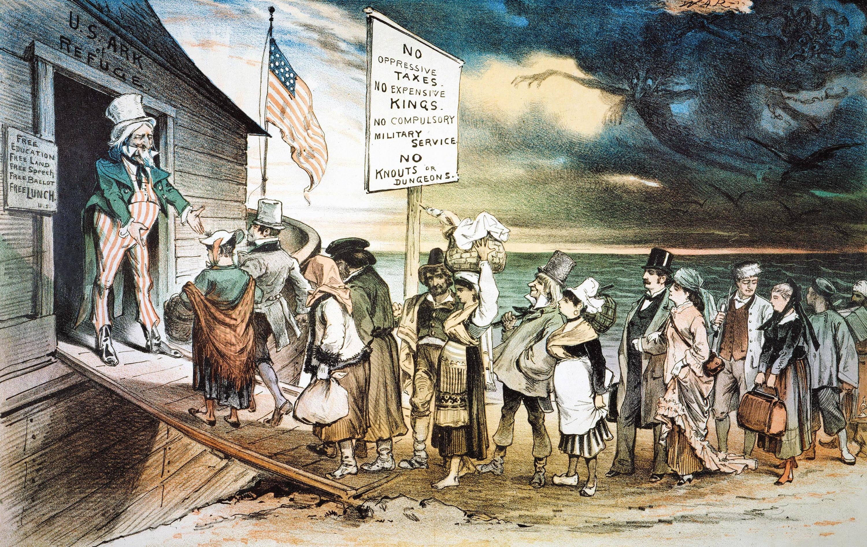 L'émigration européenne vers les États-Unis