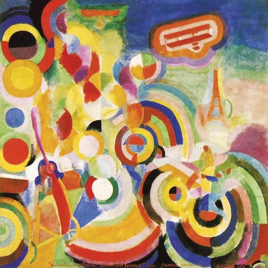 Robert Delaunay, Hommage à Blériot, 1914