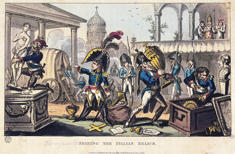 <stamp theme='his-green2'>Doc. 1</stamp> Napoléon Ier conduit le pillage de l'armée française en Italie