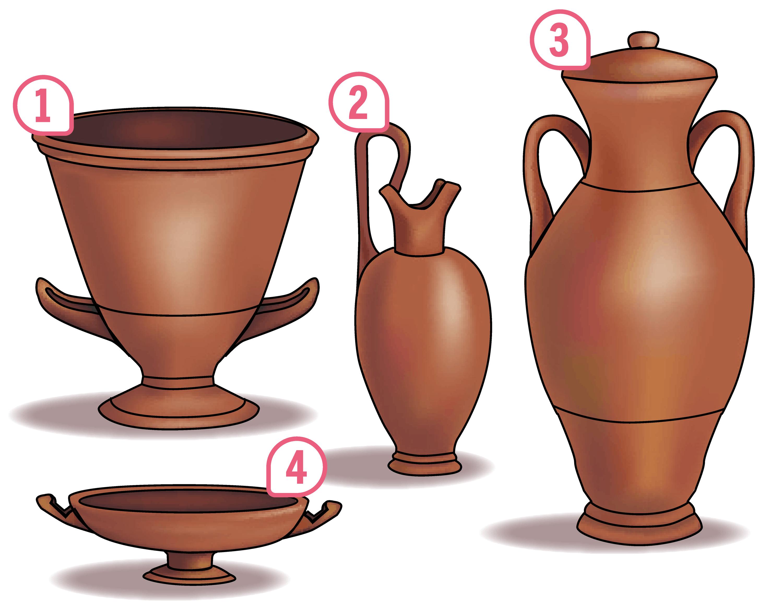 <stamp theme='his-green2'>Doc. 4</stamp> Les formes de vases grecs