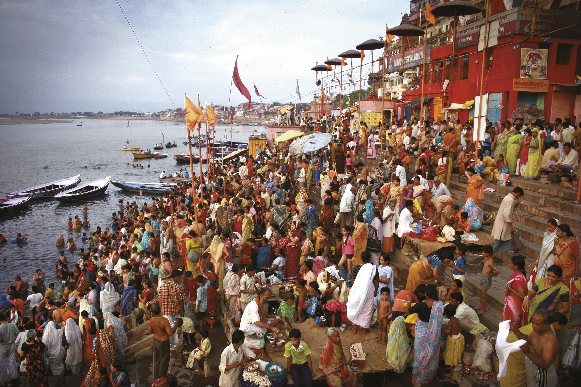<stamp theme='his-green2'>Doc. 3</stamp> Varanasi, ville indienne au bord du Gange