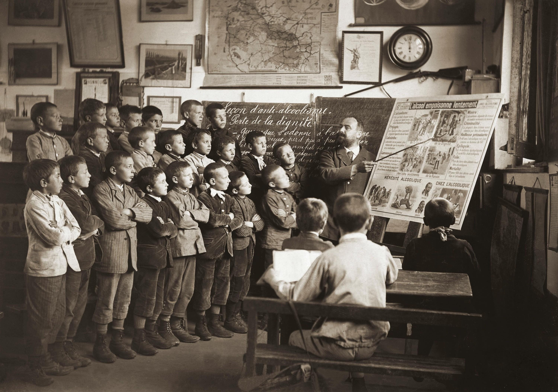 Une classe vers 1900
