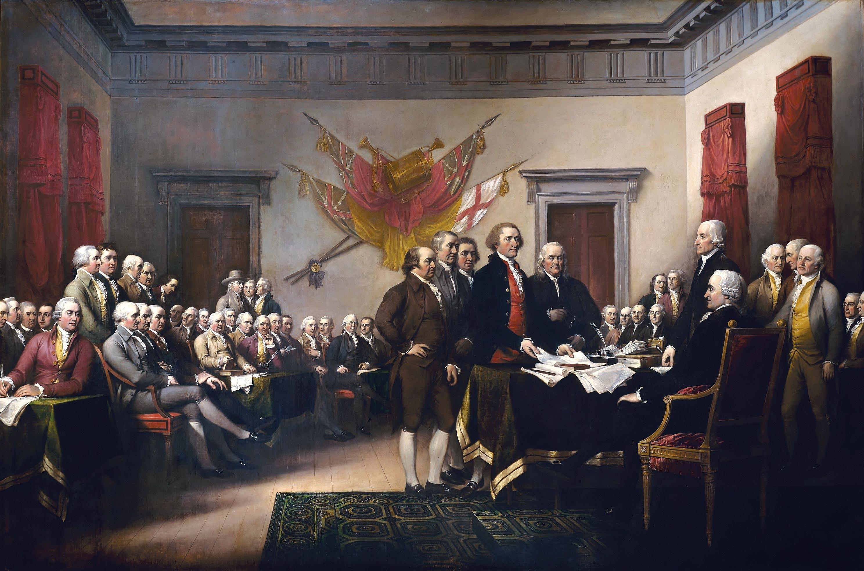 La Déclaration d'indépendance des États-Unis