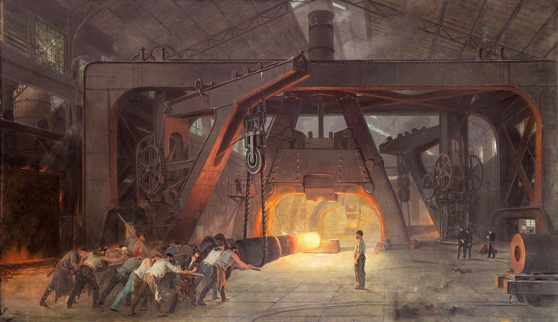 J.-F. Layraud, Le Marteau-pilon, forges et aciéries de Saint-Chamond, 1889