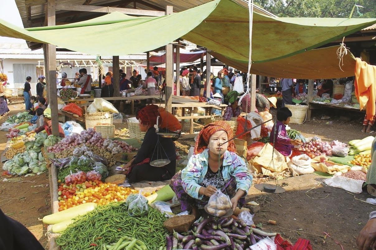<stamp theme='his-green2'>Doc. 3</stamp> La vente de produits agricoles en Birmanie
