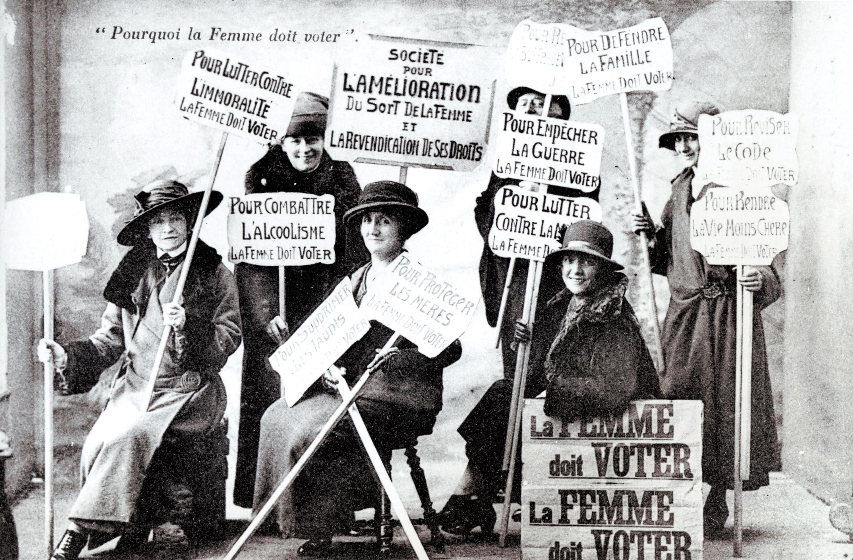 Des suffragettes françaises