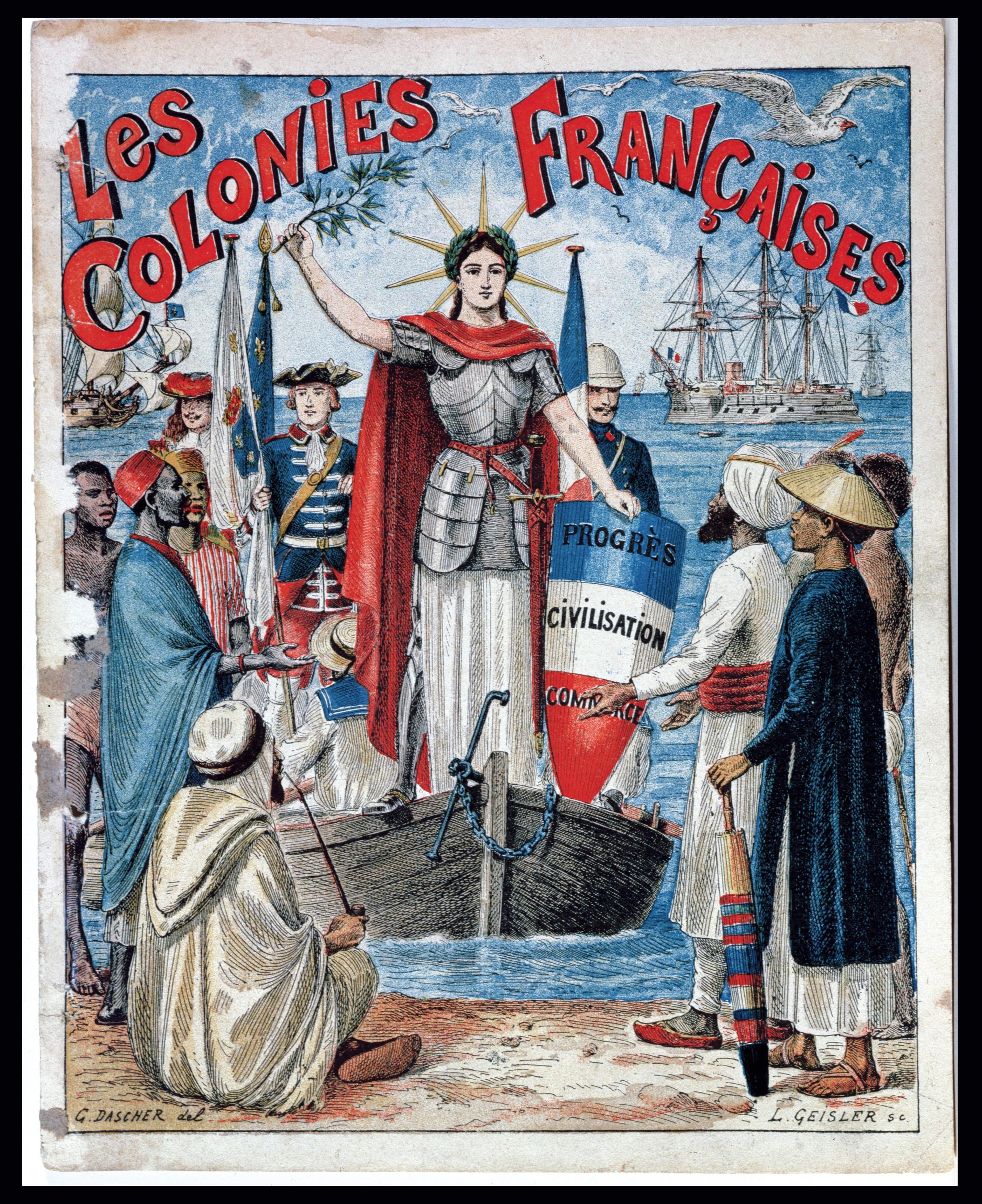 Une représentation symbolique de la colonisation française