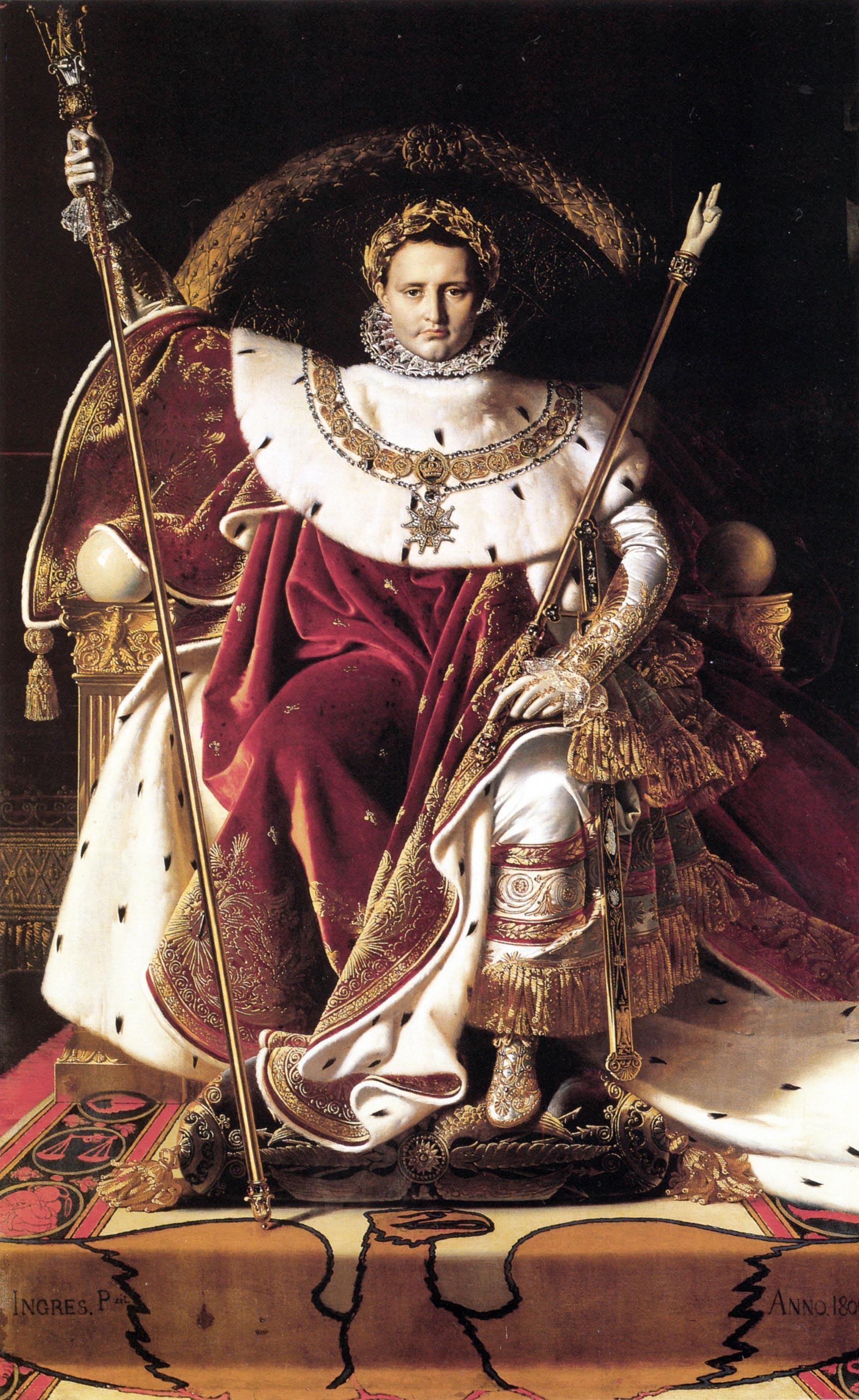 Ingres, Napoléon Ier sur le trône impérial en costume de sacre, 1806