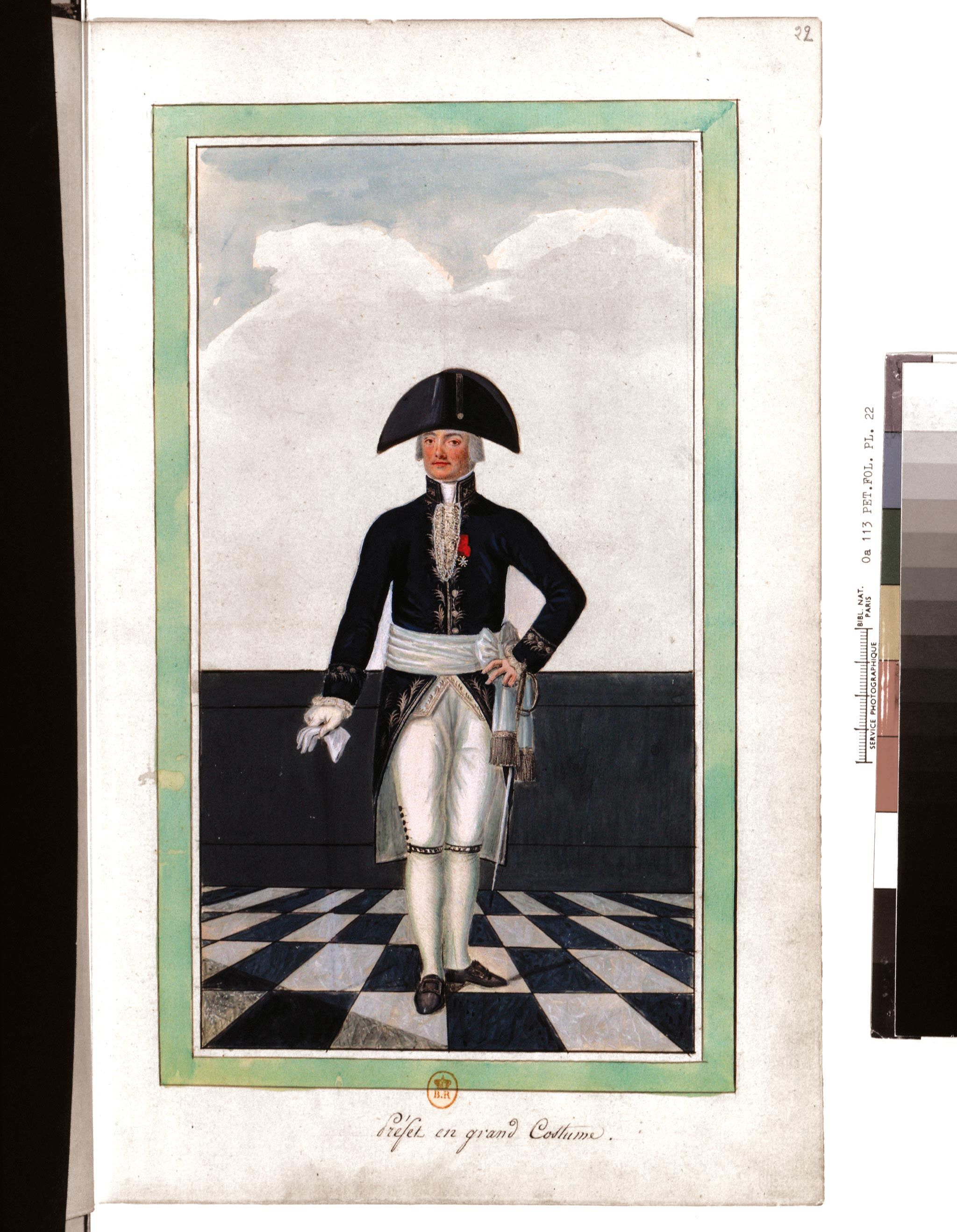 <stamp theme='his-green2'>Doc. 3</stamp> Préfet en costume