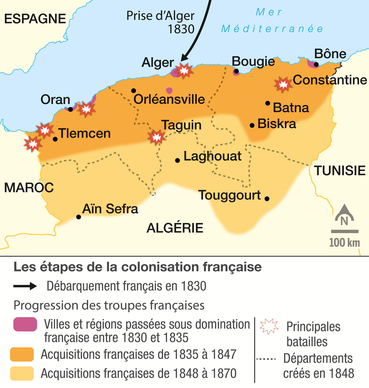 Les étapes de la conquête de l'Algérie