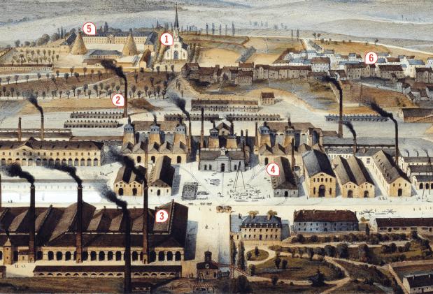 <stamp theme='his-green2'>Doc. 1</stamp> Le Creusot (Bourgogne), une ville minière et industrielle