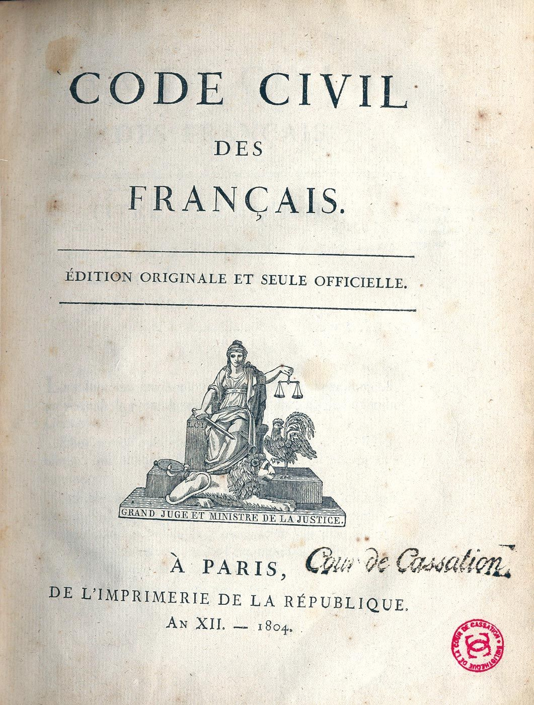 <stamp theme='his-green2'>Doc. 2</stamp> Le Code civil