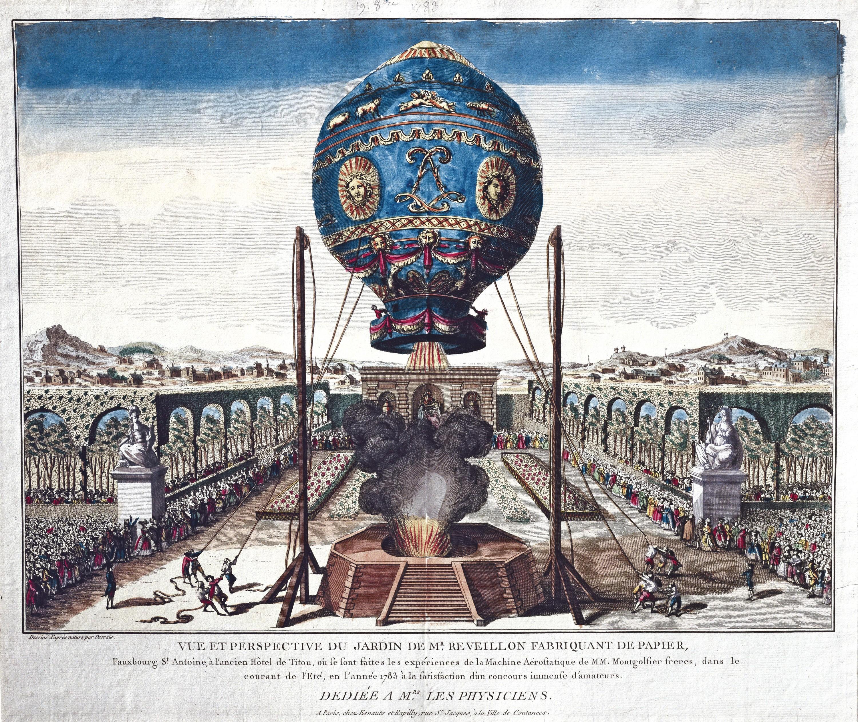 <stamp theme='his-green2'>Doc. 2</stamp> L'expérience des frères Montgolfier à Versailles