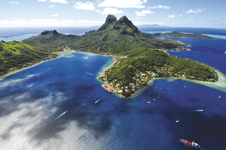 Vue de l'ile de Bora-Bora
