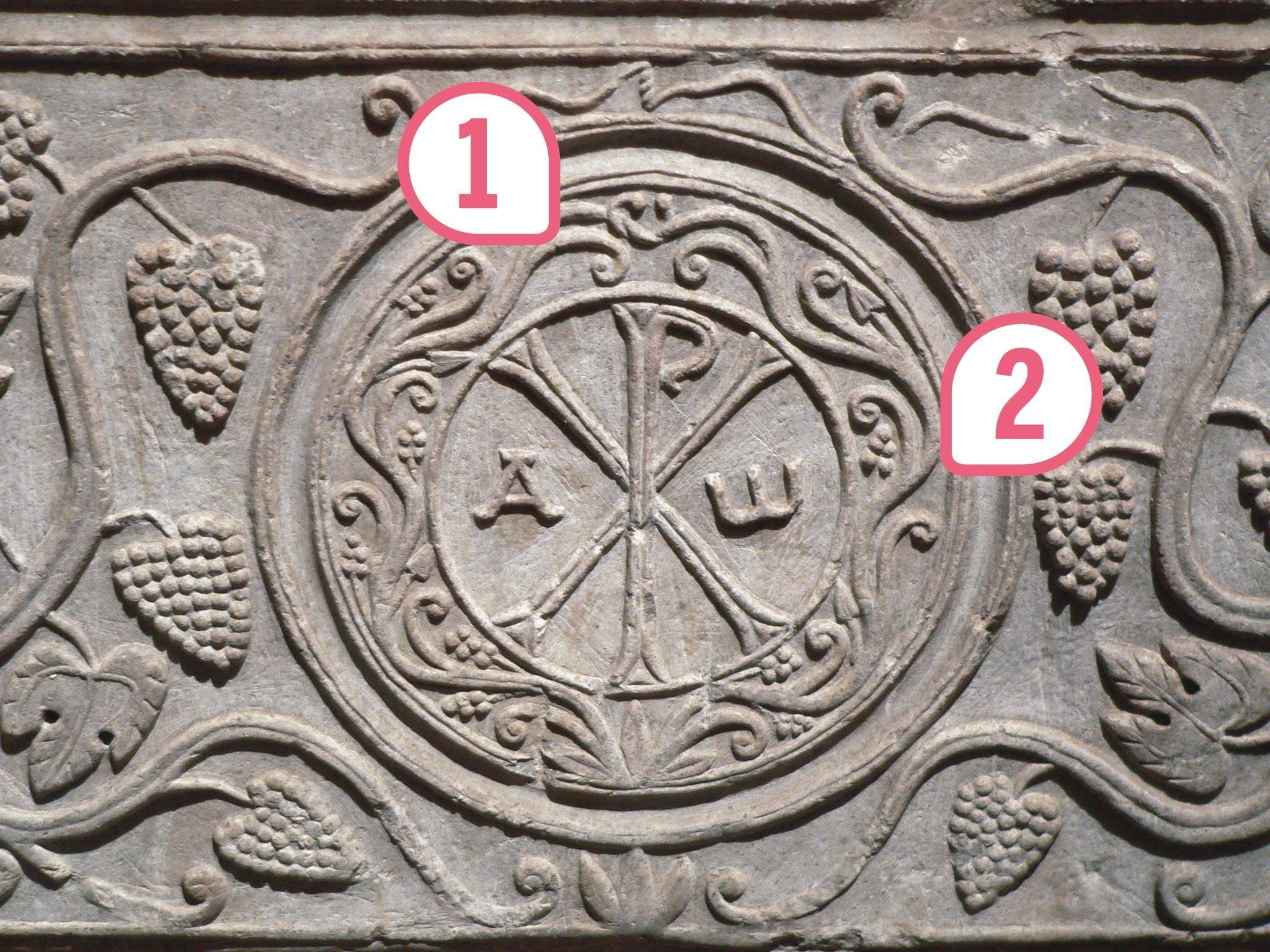 <stamp theme='his-green2'>Doc. 2</stamp> Les symboles des premiers chrétiens