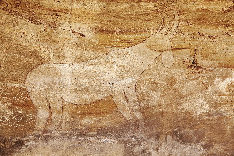 <stamp theme='his-green2'>Doc. 3</stamp> Les fresques du Tassili, dans le Sahara