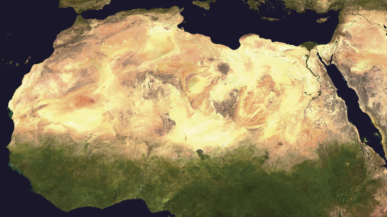<stamp theme='his-green2'>Doc. 1</stamp> Image satellite du Sahara