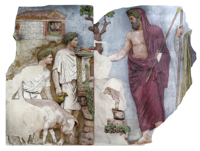 <stamp theme='his-green2'>Doc. 3</stamp> Les bas-reliefs de l'Autel de la paix, à la gloire d'Auguste