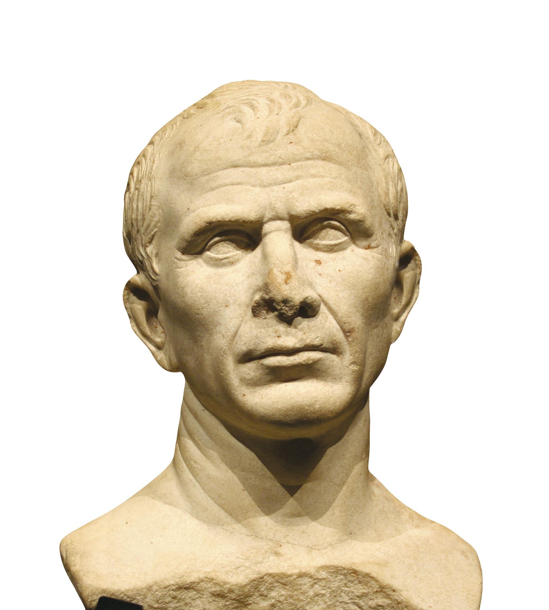 Buste en marbre dit de Jules César