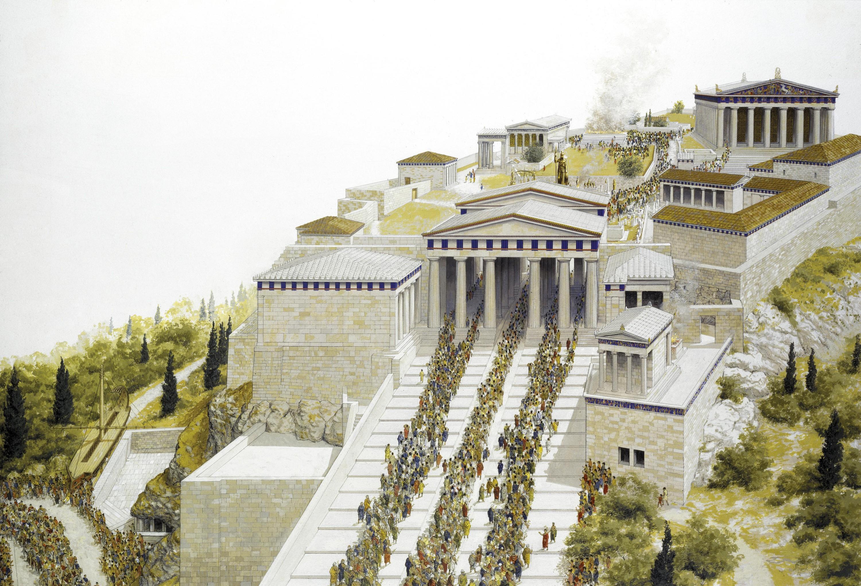 L'Acropole d'Athènes (reconstitution)